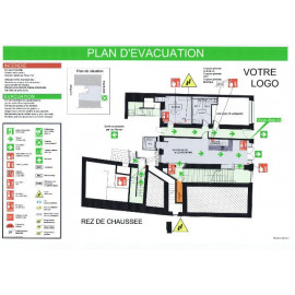 Plan d'évacuation Encadré ou plastifié A3
