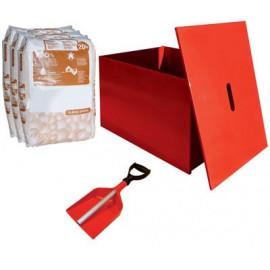Pack bac à sable complet avec pelle et sacs absorbant