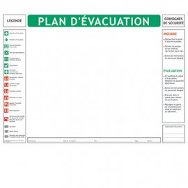 Lot de 10 fonds pour plans d\'évacuation