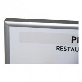 Cadre finition aluminium pour plan évacuation et intervention