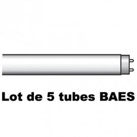 Lot de 5 Tubes fluorescents BAES