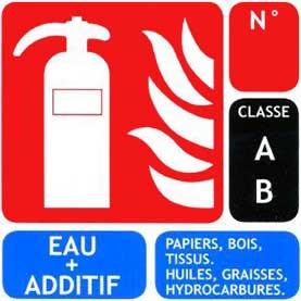 Extincteur à eau et additifs Type AB