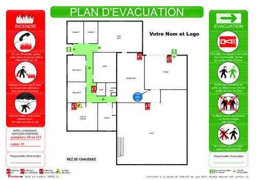Exemple de plan d'évacuation